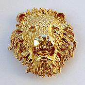Винтаж handmade. Livemaster - original item Volume lion brooch from Ellen Kiam. Handmade.