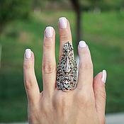 Украшения handmade. Livemaster - original item Ring for the whole finger Bohemia 925 sterling silver HH0046. Handmade.