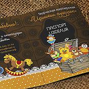 """Дизайн и реклама ручной работы. Ярмарка Мастеров - ручная работа Паспорт игрушек (этикетка изделия), визитка мастера """"Иришкин сундучок"""". Handmade."""