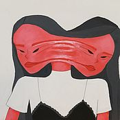 """Картины ручной работы. Ярмарка Мастеров - ручная работа Картина акрилом """"2"""". Handmade."""