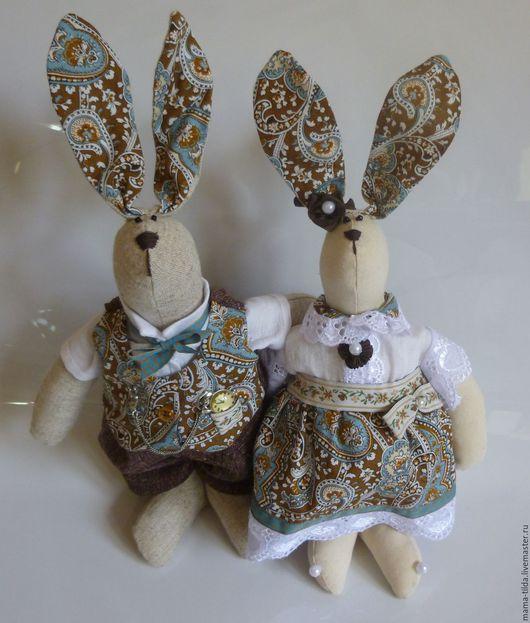 Игрушки животные, ручной работы. Ярмарка Мастеров - ручная работа. Купить интерьерная игрушка в стиле Тильда - Пасхальные кролики. Handmade.