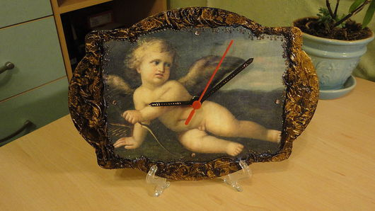 Часы для дома ручной работы. Ярмарка Мастеров - ручная работа. Купить Часы. Handmade. Настенные часы, лак битумный