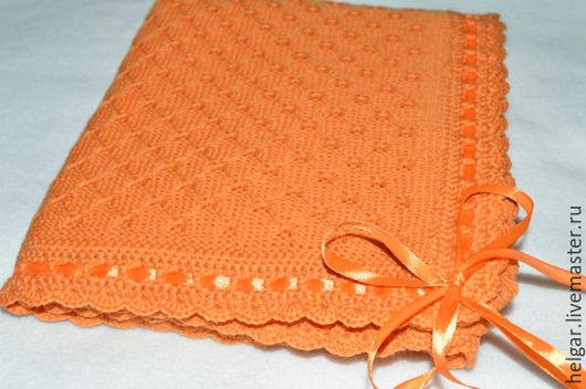 Пледы и одеяла ручной работы. Ярмарка Мастеров - ручная работа. Купить Вязаный плед для новорожденного ( на выписку или в коляску). Handmade.