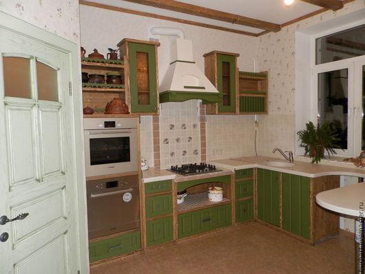 """Кухня ручной работы. Ярмарка Мастеров - ручная работа. Купить Кухня """"Елена"""". Handmade. Тёмно-зелёный, дизайн интерьера, для кухни"""