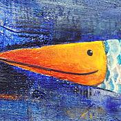 Для дома и интерьера ручной работы. Ярмарка Мастеров - ручная работа Интерьерная картина «Ры Ба». Handmade.