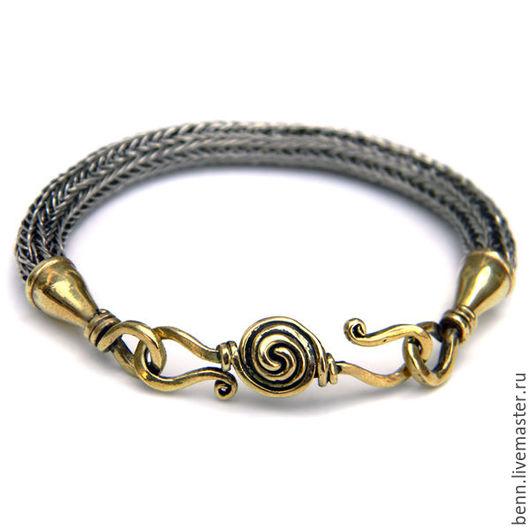 """Браслеты ручной работы. Ярмарка Мастеров - ручная работа. Купить Браслет """"Viking Knit"""" (мельхиоровый). Handmade. Стильный браслет"""