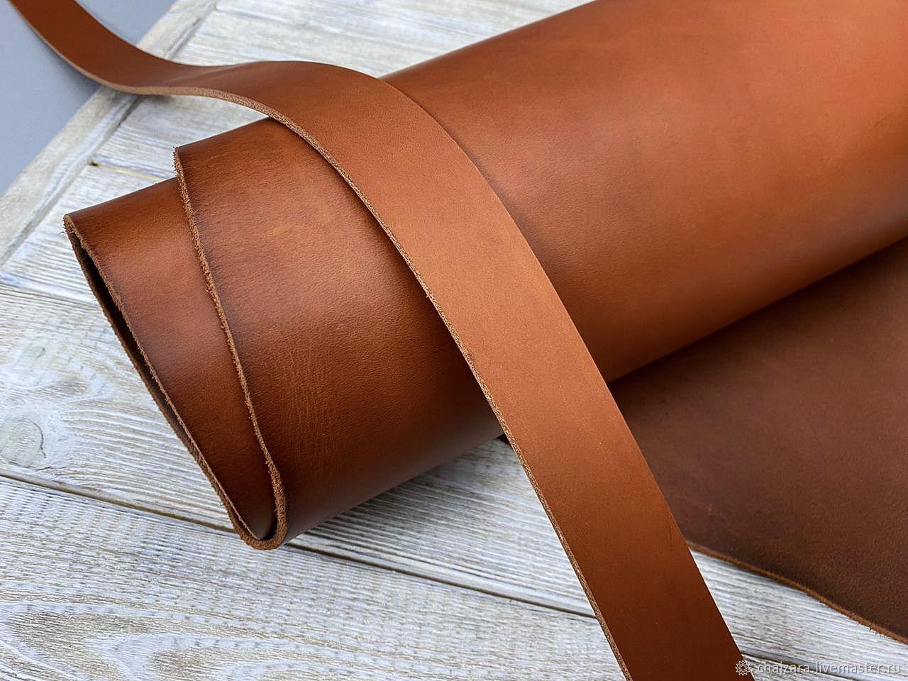 Ременная кожа 3.8-4.0 мм Dakota Tan New, Кожа, Оренбург,  Фото №1