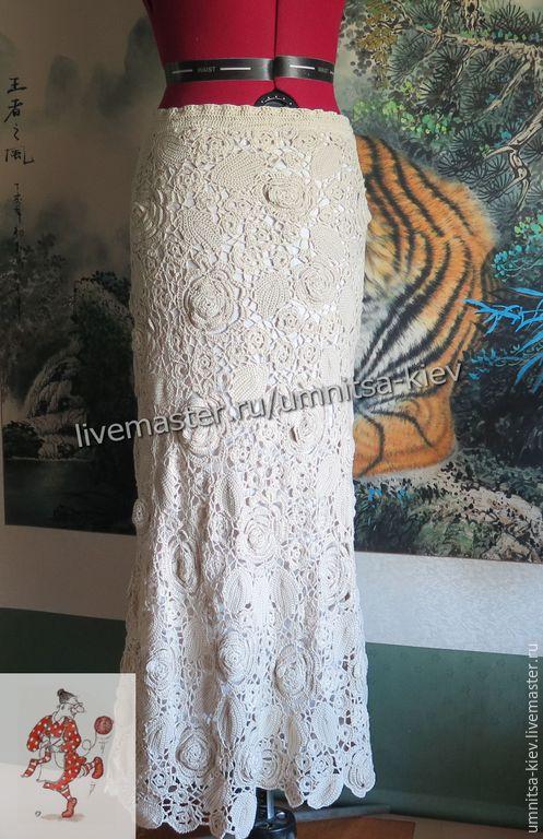 Фото. Вязаная юбка из натурального шелка просто великолепна.