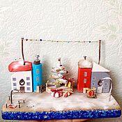 Подарки к праздникам handmade. Livemaster - original item Driftwood houses Christmas village. Handmade.