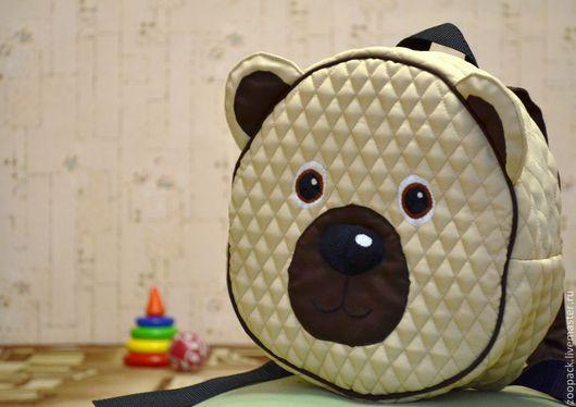 Детские аксессуары ручной работы. Ярмарка Мастеров - ручная работа. Купить Детский рюкзачок Мишка. Handmade. Бежевый, медвежонок