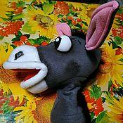 Куклы и игрушки handmade. Livemaster - original item donkey. Doll on hand. Puppets.  A muppet.. Handmade.