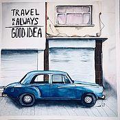 Картины и панно handmade. Livemaster - original item Travel is always a good idea. Handmade.