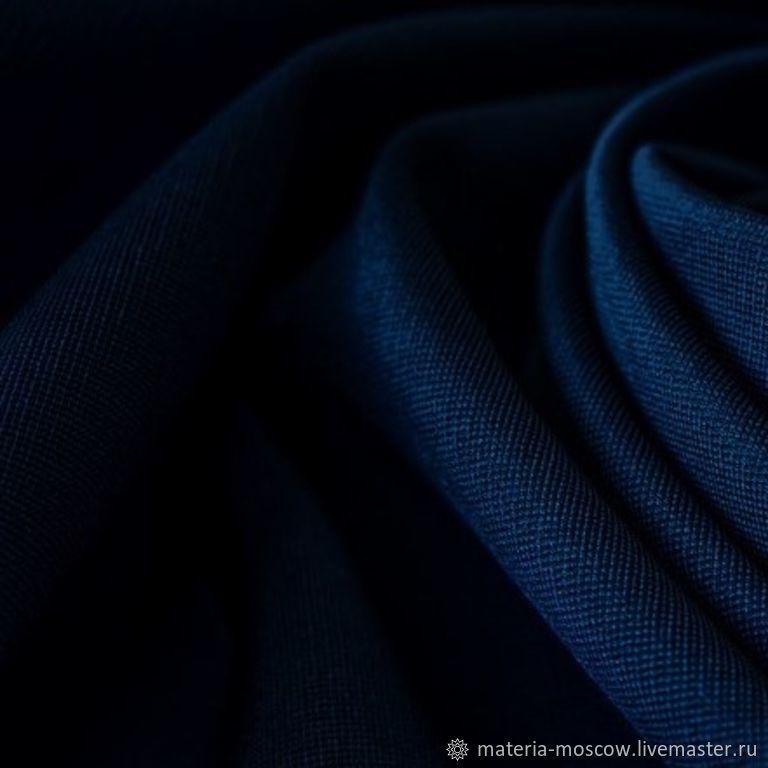 Джерси SOLID цвет синий Италия, Ткани, Москва,  Фото №1