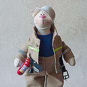 Куклы и игрушки ручной работы. Ярмарка Мастеров - ручная работа Пожарный!. Handmade.