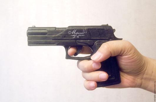 Мыло ручной работы. Ярмарка Мастеров - ручная работа. Купить Мыло Пистолет большой. Handmade. Черный, пистолет, мыло для мужчин