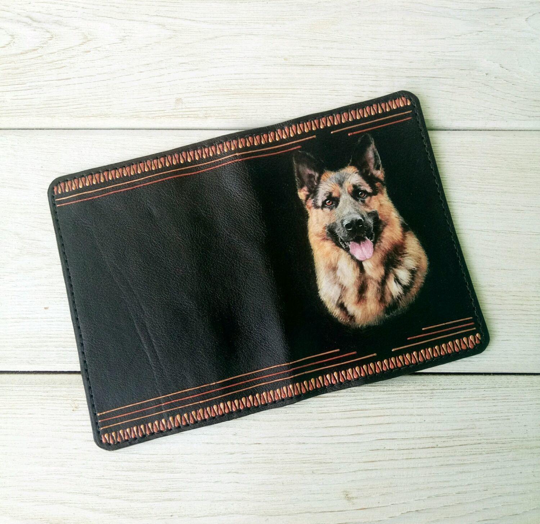 Обложка на паспорт для питомца собаки натуральная кожа черная, Аксессуары для питомцев, Барнаул, Фото №1