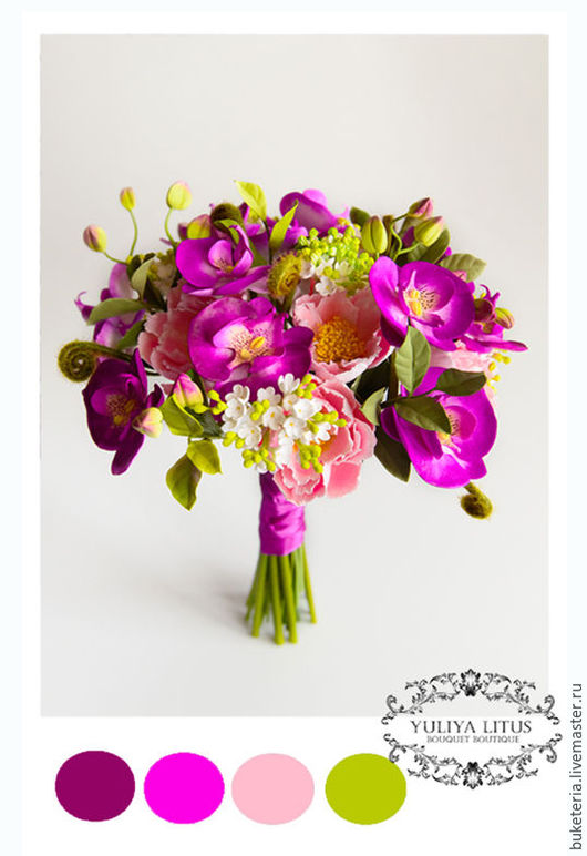 Свадебные цветы ручной работы. Ярмарка Мастеров - ручная работа. Купить Букет невесты из полимерной глины. Handmade. Букет невесты