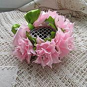 Работы для детей, ручной работы. Ярмарка Мастеров - ручная работа Резинка на пучок с лилиями. Handmade.