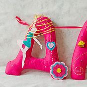 Для дома и интерьера ручной работы. Ярмарка Мастеров - ручная работа Имя из фетра для девочки. Комбинированный стиль.. Handmade.