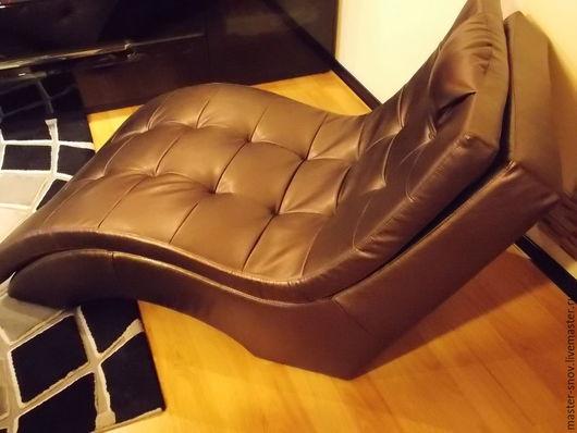 Мебель ручной работы. Ярмарка Мастеров - ручная работа. Купить Шезлонг. Handmade. Коричневый, гостиная, лежак, пенополиуретан, Брус