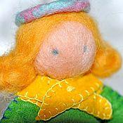 Куклы и игрушки ручной работы. Ярмарка Мастеров - ручная работа Игрушка елочная - куколка Солнышко. Handmade.