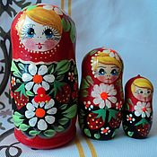 Русский стиль handmade. Livemaster - original item Matryoshka 3 local Daisy. Handmade.