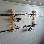 Для дома и интерьера handmade. Livemaster - original item Organizer for fishing rods. Handmade.