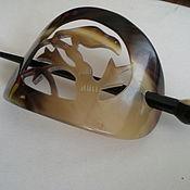 Винтаж ручной работы. Ярмарка Мастеров - ручная работа Винтажная костяная заколка для волос (на хвост)из рога 1980г. Handmade.