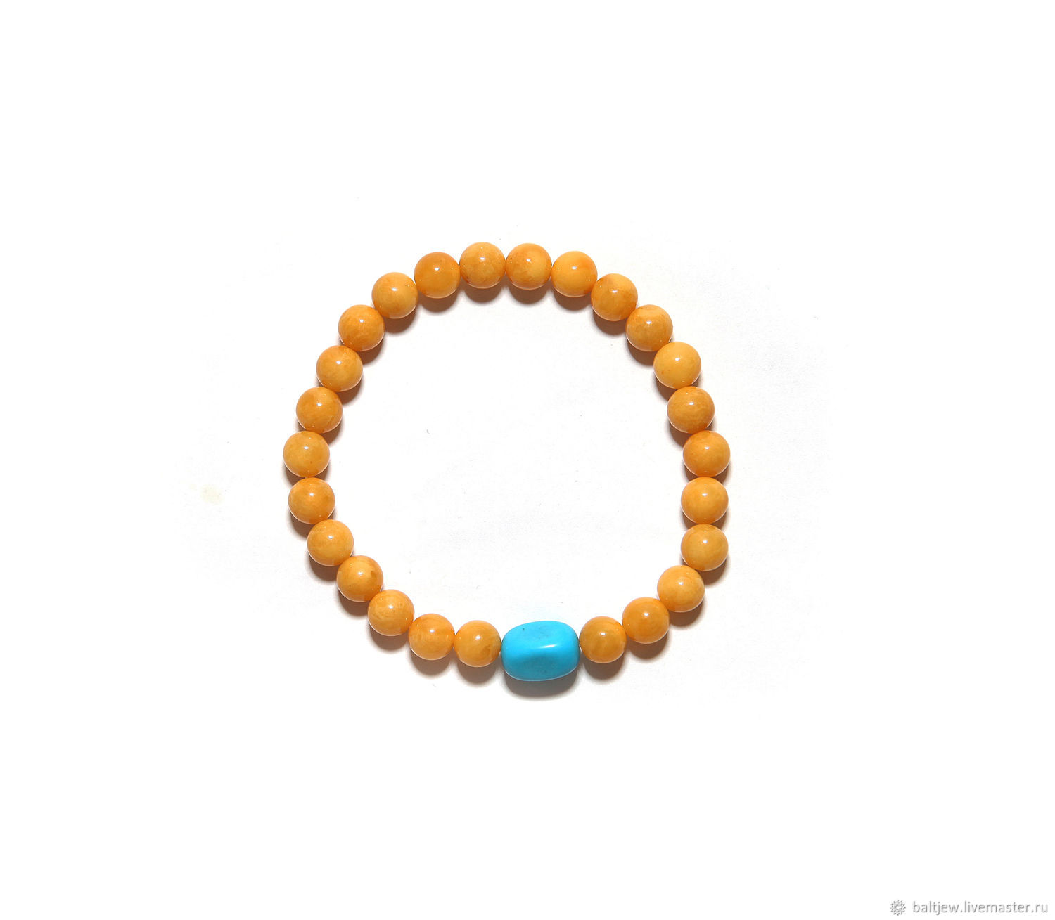 Bracelet with Baltic amber 'Victoria', Bead bracelet, Moscow,  Фото №1