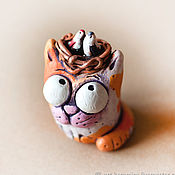 Для дома и интерьера handmade. Livemaster - original item Ceramic cat Timothy. Handmade.