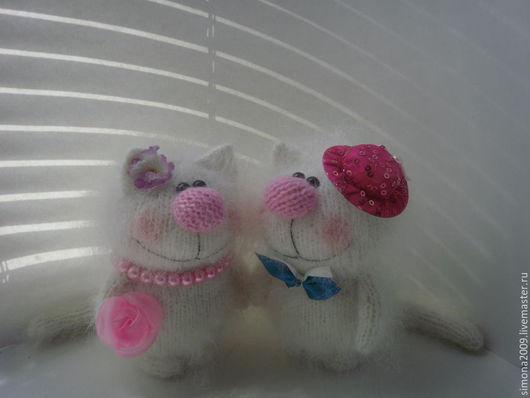 Игрушки животные, ручной работы. Ярмарка Мастеров - ручная работа. Купить Свадебные котики. Ля-Мур-Мур-Мур! - пушистый подарок. Handmade.