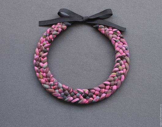 """Колье, бусы ручной работы. Ярмарка Мастеров - ручная работа. Купить Колье (Гривна) """"Розовые сны"""". Handmade. Разноцветный, гривна"""