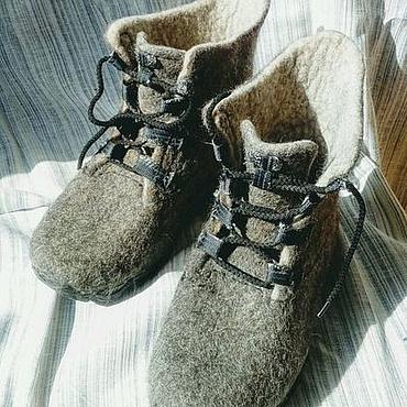 """Обувь ручной работы. Ярмарка Мастеров - ручная работа Ботинки валяные мужские """"Хулиганы"""". Handmade."""