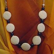 Украшения handmade. Livemaster - original item Chain necklace lava and jade. Handmade.
