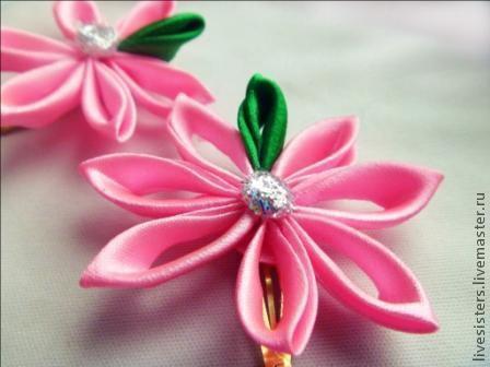 """Детская бижутерия ручной работы. Ярмарка Мастеров - ручная работа. Купить заколка для волос """"Маленькая прелесть"""". Handmade. Розовый, цветы"""