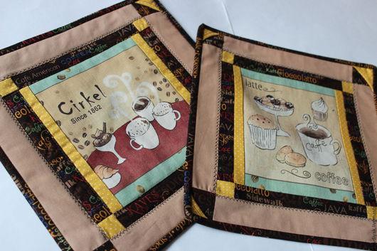 Текстиль, ковры ручной работы. Ярмарка Мастеров - ручная работа. Купить Салфетки для кухни. Handmade. Коричневый, хлопок 100%