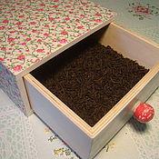 Для дома и интерьера ручной работы. Ярмарка Мастеров - ручная работа Коробок Мелкий Цветочек. Handmade.