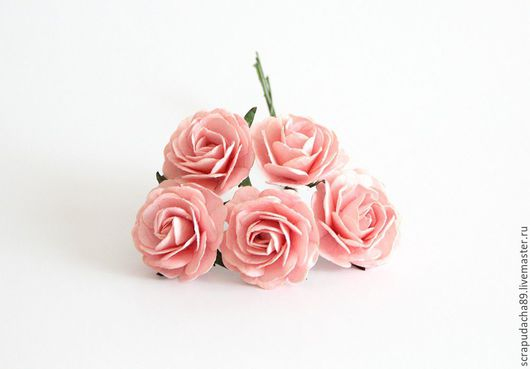 Открытки и скрапбукинг ручной работы. Ярмарка Мастеров - ручная работа. Купить Макси-розы розовоперсиковые 5 шт. Handmade.
