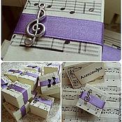 Свадебный салон ручной работы. Ярмарка Мастеров - ручная работа Music - бонбоньерки. Handmade.