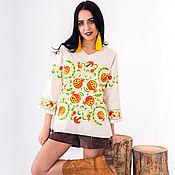 "Одежда handmade. Livemaster - original item Shirt ""Pomegranate wreath"". Handmade."