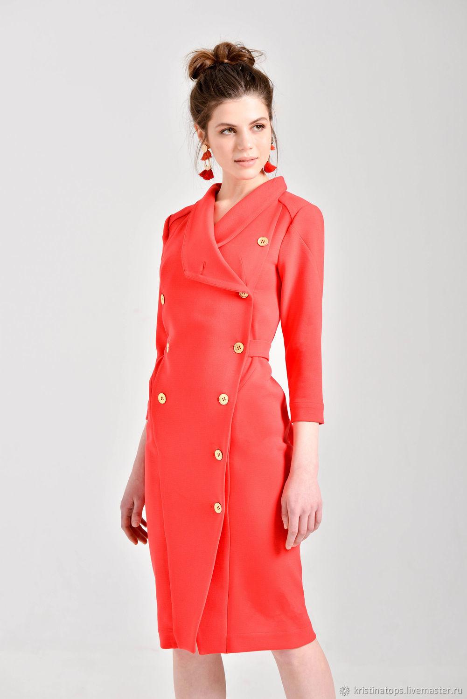 5daa779dec6 Алое платье-футляр – купить в интернет-магазине на Ярмарке Мастеров ...