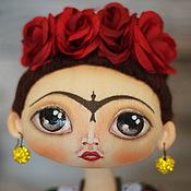 Куклы и игрушки ручной работы. Ярмарка Мастеров - ручная работа Интерьерная  текстильная кукла Фрида Кало.. Handmade.