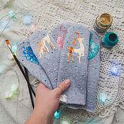 Работы для детей, handmade. Livemaster - original item children`s mittens Christmas story. Handmade.