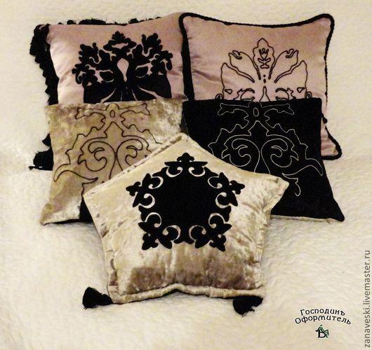 Текстиль, ковры ручной работы. Ярмарка Мастеров - ручная работа. Купить Декоративная подушка с вышивкой 1. Handmade. Декоративная подушка