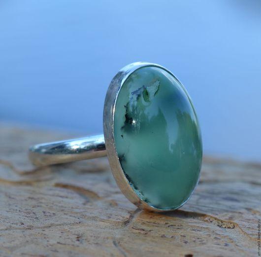Кольца ручной работы. Ярмарка Мастеров - ручная работа. Купить Кольцо с хризопразом, серебро. Handmade. Натуральные камни, хризопраз