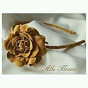 Украшения handmade. Livemaster - original item Wrap with a rose Autumn. Natural suede.. Handmade.
