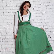 Одежда ручной работы. Ярмарка Мастеров - ручная работа Подгрудный сарафан зеленый. Handmade.