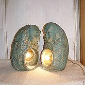 Для дома и интерьера ручной работы. Ярмарка Мастеров - ручная работа скульптуры Мужчина и Женщина (светильник и зеркало). Handmade.