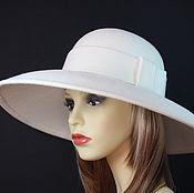 Аксессуары ручной работы. Ярмарка Мастеров - ручная работа Фетровая шляпа с большими полями. Handmade.