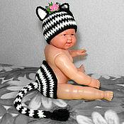 Работы для детей, ручной работы. Ярмарка Мастеров - ручная работа шапочка для фотосессии новорожденных Зебра. Handmade.